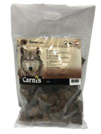 Carnis hondensnacks wildvlees blokjes 200 gram.