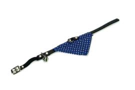 Kattenhalsband met doek blauw