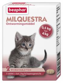 Milquestra Kleine Kat en Kitten (2 tablet voor katten < 2kg.)