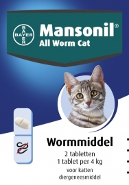 Mansonil All Worm Cat 2 tablet