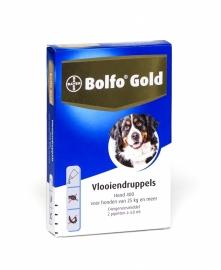 Bolfo Gold Hond 400 (25 kg. en meer) 2 pipet