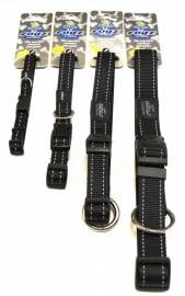 Rogz 4 Dogz Nylon Halsband Zwart