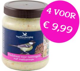 Vogelbescherming pindakaas meelwormen 4 stuks
