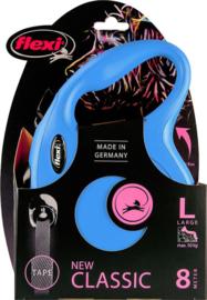 Flexi New Classic Tape L Blauw (8 mtr)