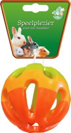 Plastic Knaagdierbal met bel 7,5 cm.