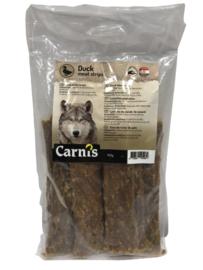 Carnis hondensnacks eendenvlees strips 150 gram.