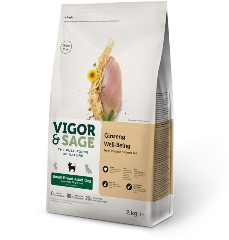 Vigor & Sage Ginseng Well-Being Small Breed 6 kg.