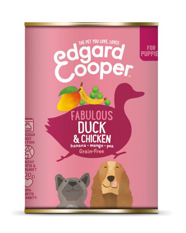 E&C blikjes Puppy Eend / Kip 400 gram