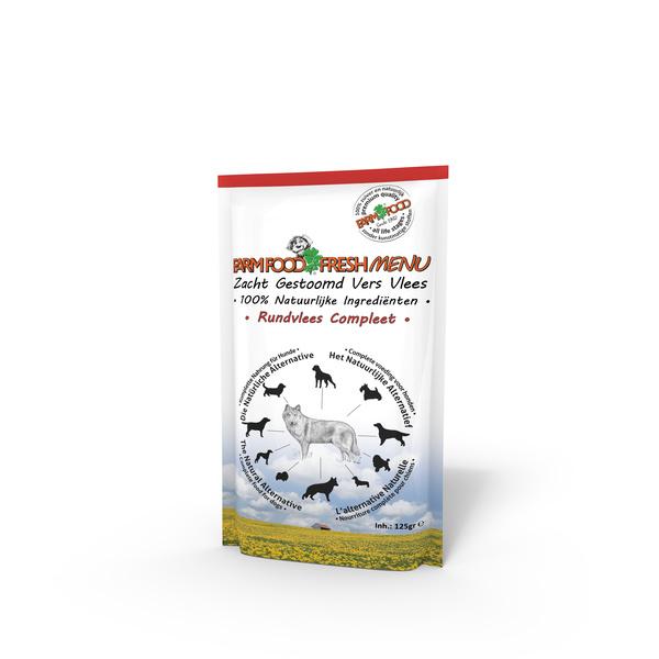 Farm Food fresh menu rundvlees 125 gram.
