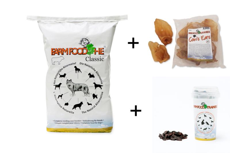 Farm Food HE Classic 15 kg + snackpakket 2