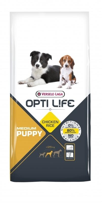 Opti Life Puppy Medium 12,5 kg. (glutenvrij)