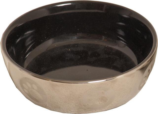 Kattendrinkschotel steen zwart zilver
