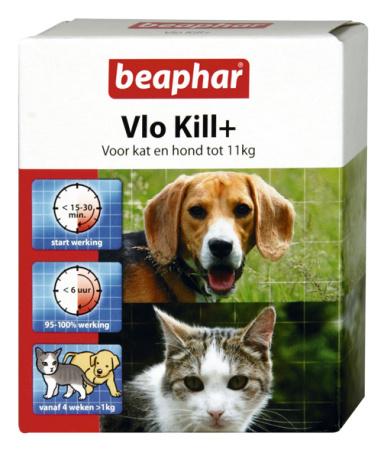 Beaphar Vlo Kill kat en hond tot 11 kg.