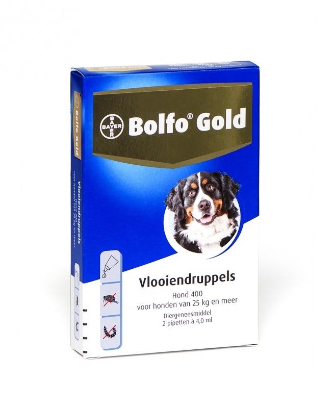 Bolfo Gold Hond 400 (25 kg. en meer) 4 pipet