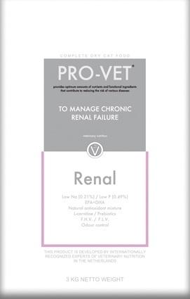 Pro-Vet Renal 3 kg.