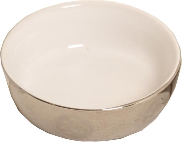 Kattendrinkschotel steen wit zilver