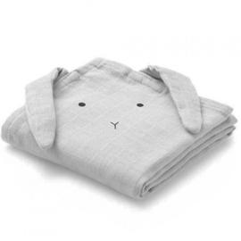 Liewood hydrofiele doek konijn grey