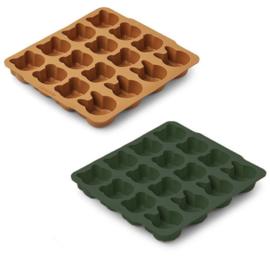 Liewood ijsblokvormpjes sonny - mustard óf groen