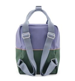 Sticky Lemon rugzak colour block Moustafa purple + movie green + henckles blue