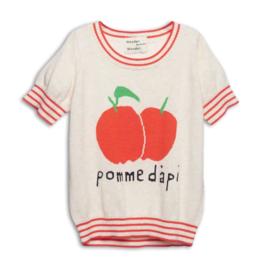 Wander & wonder knit top Pomme Dapi cream