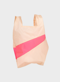 Susan Bijl the New shoppingbag Peach & Fluo Pink