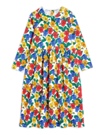 Mini Rodini jurk met kraagje violas multi