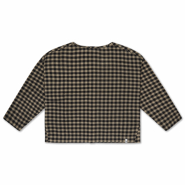 Repose AMS t-shirt woven noir check | Mt. 10 jr