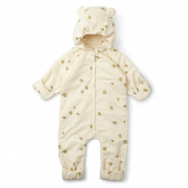 Konges slojd onesie newborn hood lemon