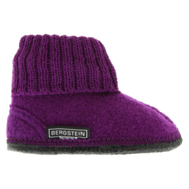 Bergstein sloffen Cozy - latex - Wool - Purple