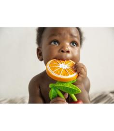 Oli & Carol bijt-/badspeeltje Clementino the orange