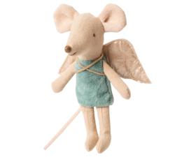 Maileg fairy muis, kleine zus - blauw