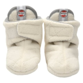Lodger babyslofjes fleece Off-white | 12/18 mnd