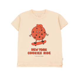Tiny Cottons t-shirt cookie ride cream/brown