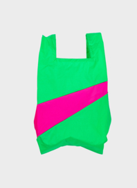 Susan Bijl the New shoppingbag Greenscreen & Pretty Pink