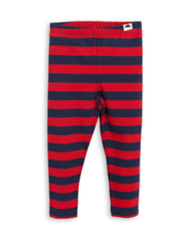 Mini Rodini legging Blockstripe red