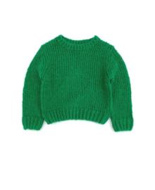 Long live the queen gebreide sweater groen