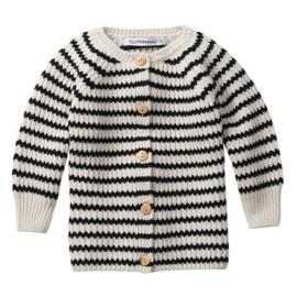 Mingo baby vestje striped black / white