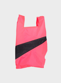 Susan Bijl the New shoppingbag Fluo Pink & Black