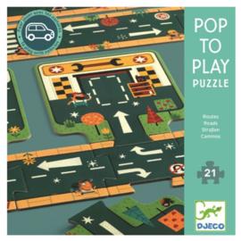 Djeco puzzel Pop to play weg - 21 stukjes