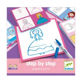 Djeco leren tekenen step by step prinsessen