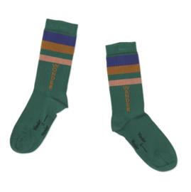 Wander & wonder sokken green stripe