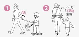 Pull and Carry stepriem roze