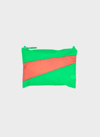 Susan Bijl pouch Greenscreen & Salmon | Mt. M