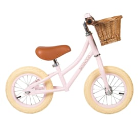 Banwood First Go balance loopfiets pink