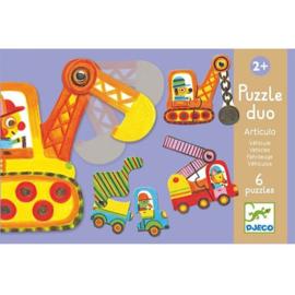 Djeco puzzel duo bouwvoertuigen