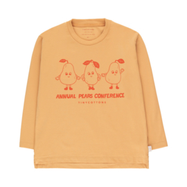 Tiny Cottons longsleeve pears conference camel/red