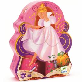 Djeco puzzel Assepoester - 36 stukjes