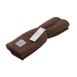 Nanami swaddle 120 x 120 leaf brown