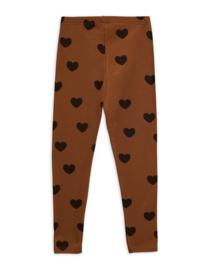Mini Rodini legging hearts brown