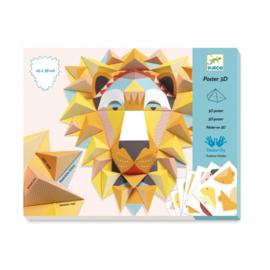 Djeco poster 3D leeuw